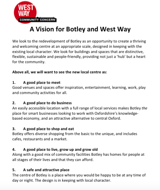 Vision for Botley and West Way
